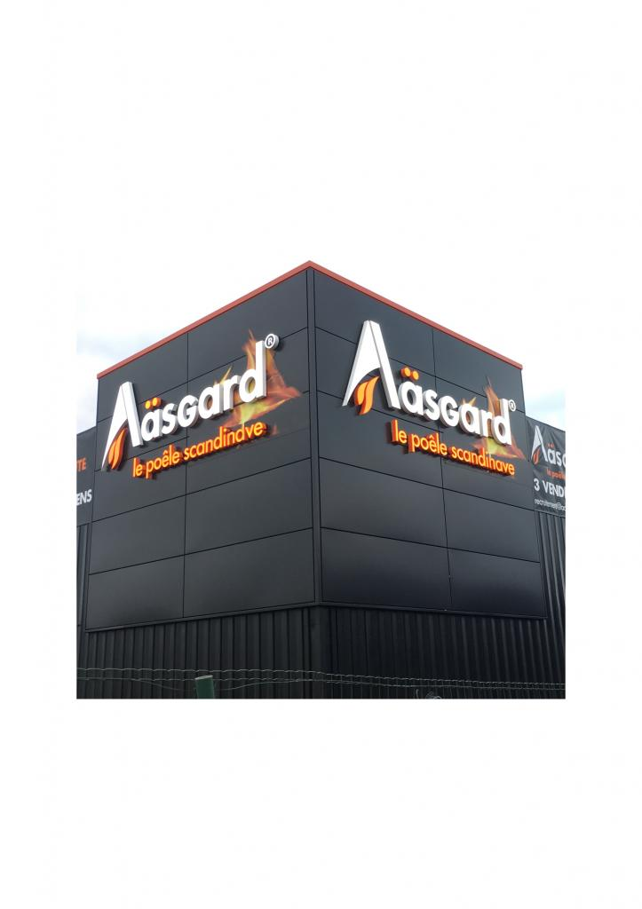 Aasgard Le Mans Lettres en relief lumineuses