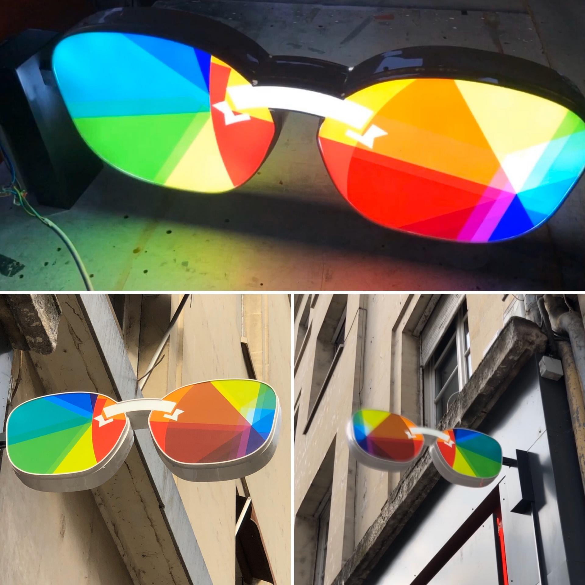 lunette lumineuse en relief