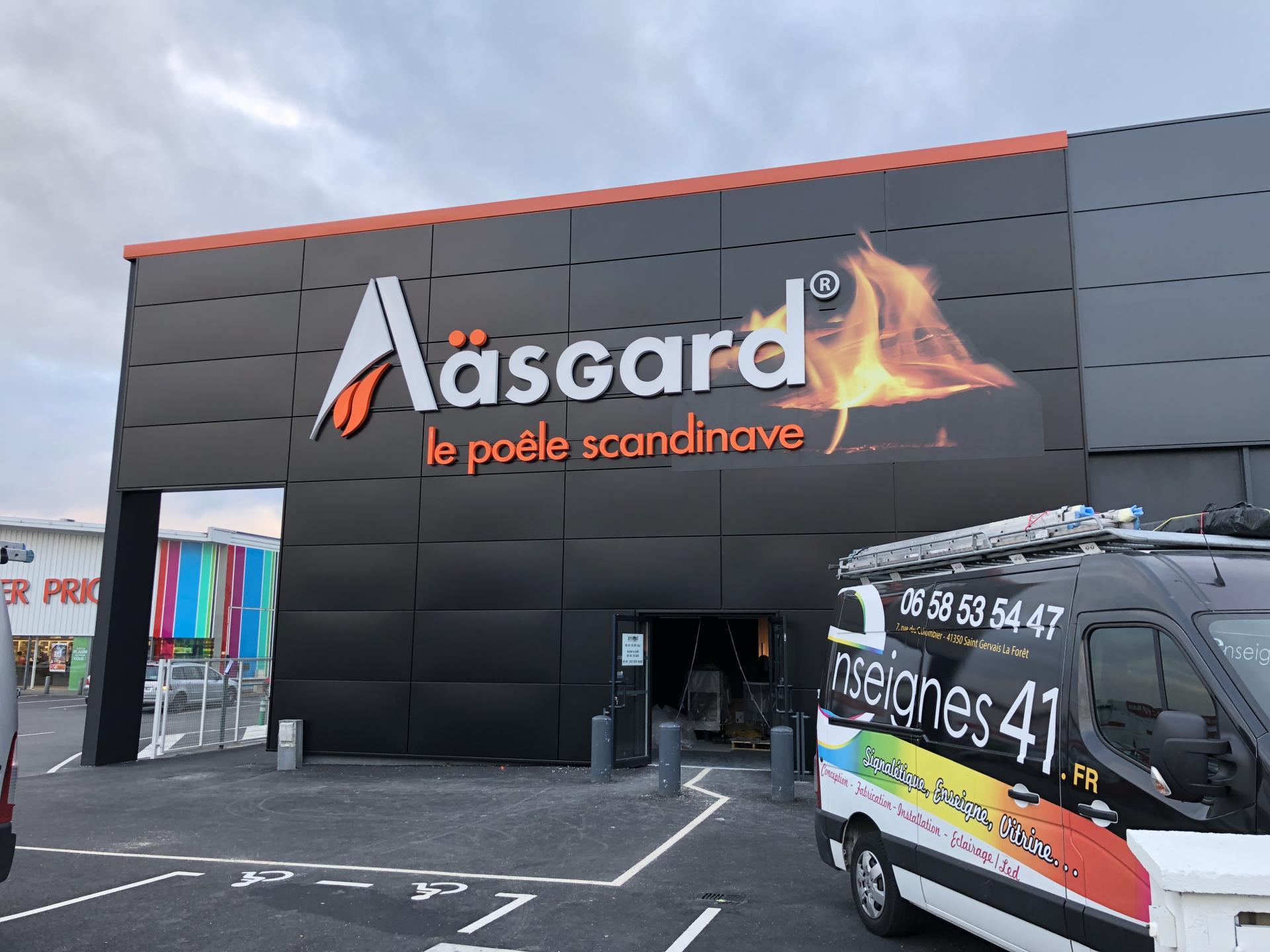 Aasgard Nantes St Herblain Lettres boitiers lumineuses